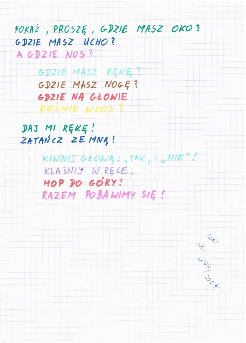Wierszyki I Piosenki Wędrując Z Autyzmem łukasz Biniaś